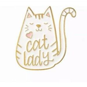 4/$20~~Cat Lady Tac Pin